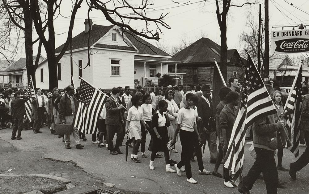 Participants in the civil rights march from Selma to Montgomery, Alabama, March 1965 (Library of Congress)