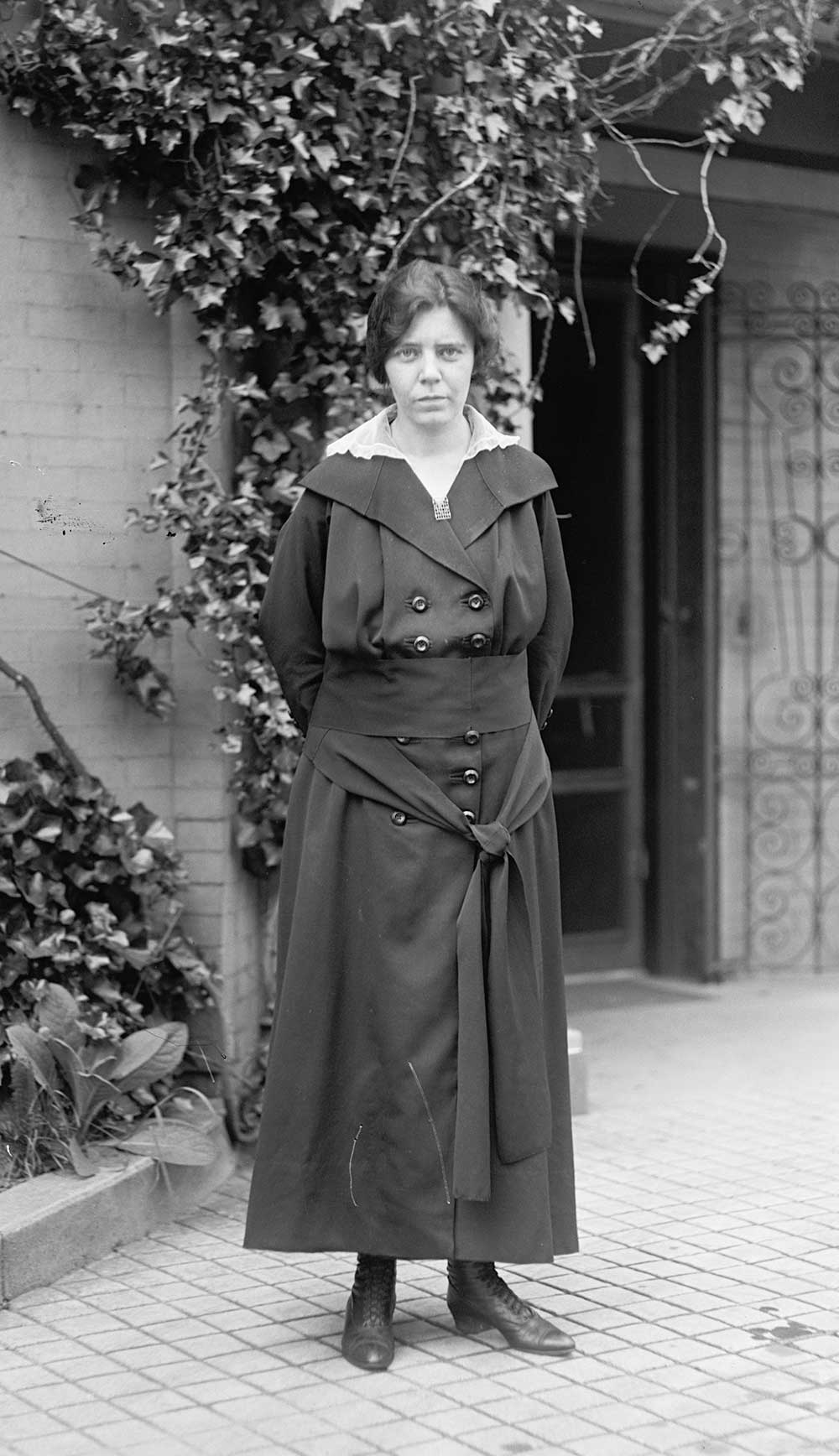 Alice Paul, photograph by Harris & Ewing, 1918 (Library of Congress)