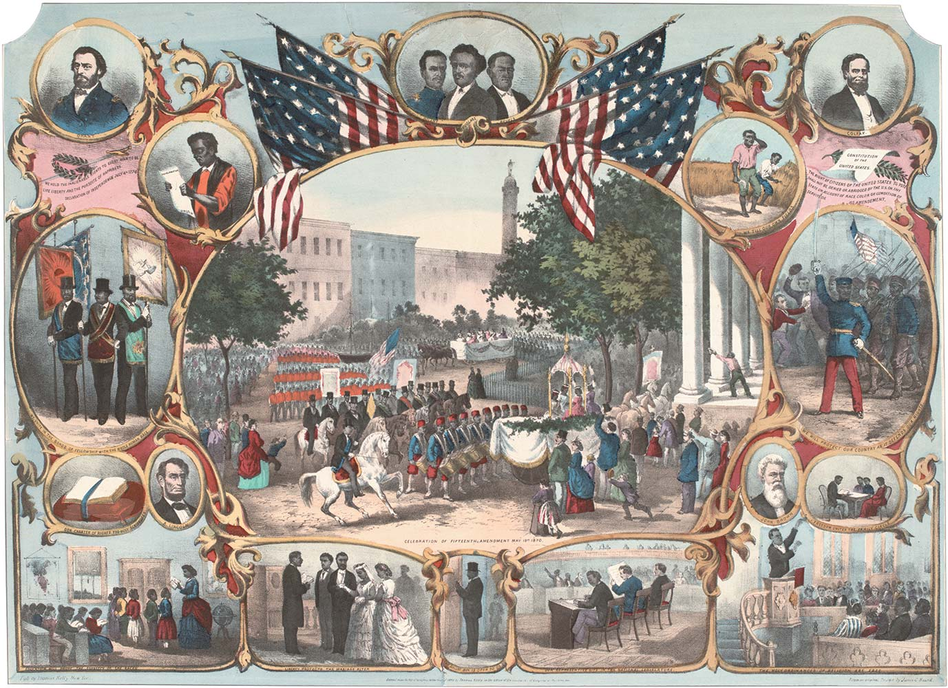 """The Fifteenth Amendment Celebrated,"" lithograph, New York, 1870 (Private Collection)"