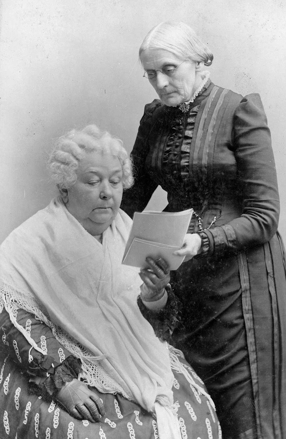 Elizabeth Cady Stanton (left) and Susan B. Anthony, between 1880 and 1902 (Library of Congress)