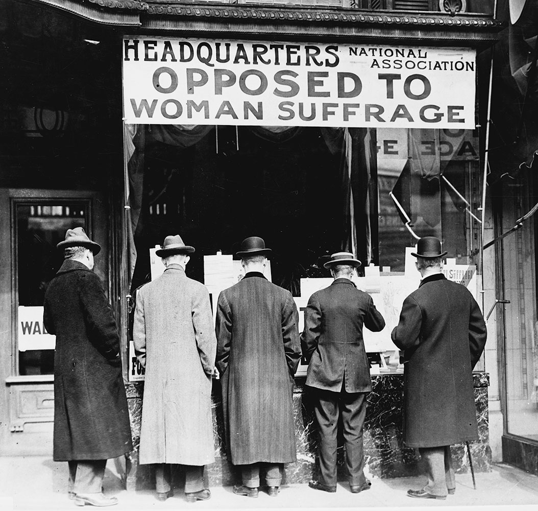 National Anti-Suffrage Association office in Washington DC, photograph by Harris & Ewing, ca. 1911. (Library of Congress)