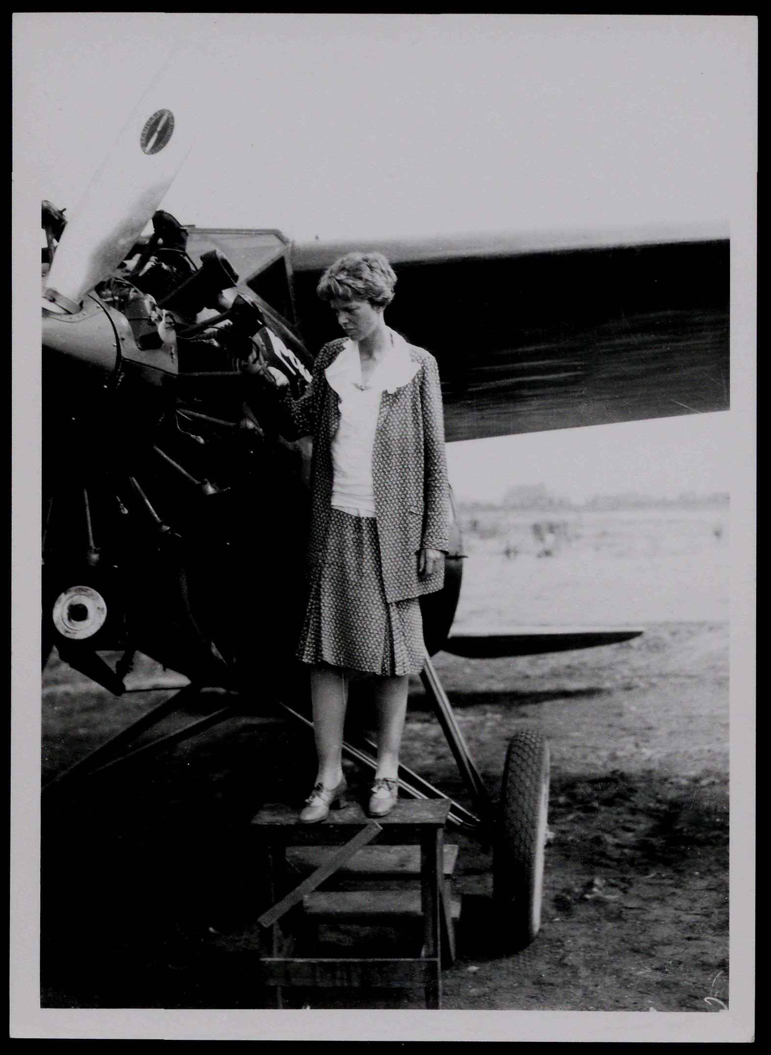Amelia Earhart in 1930, likely photographed by John W. Underwood (Gilder Lehrman Institute, GLC07243.006.02)