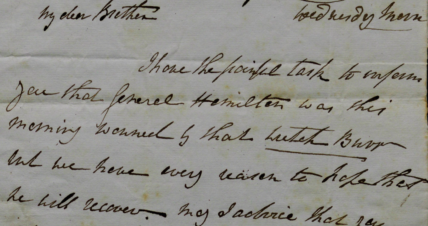 Angelica Church to Philip Schuyler, July 11, 1804 (Gilder Lehrman Institute, GLC07882)