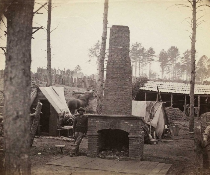 """Winter Camps, Brandy Station,"" ca. 1864, photograph by Alexander Gardner (Gilder Lehrman Institute, GLC05111.01.0510)"