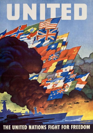 United for Freedom poster from the Office of War Information, 1943 (Gilder Lehrman Institute, GLC09520.30)