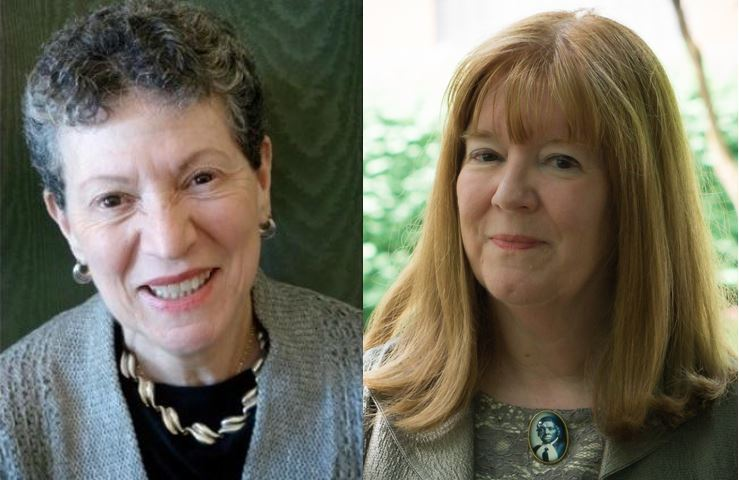 Carol Berkin, Presidential Professor of History Emerita at Baruch College and The Graduate Center (left), and Catherine Clinton, Denman Chair of American History at the University of Texas in San Antonio (right)