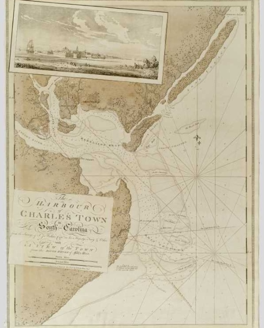 "Joseph DesBarres, ""The Harbour of Charlestown in South Carolina,"" 1780 (Gilder Lehrman Institute, GLC03103.11)"