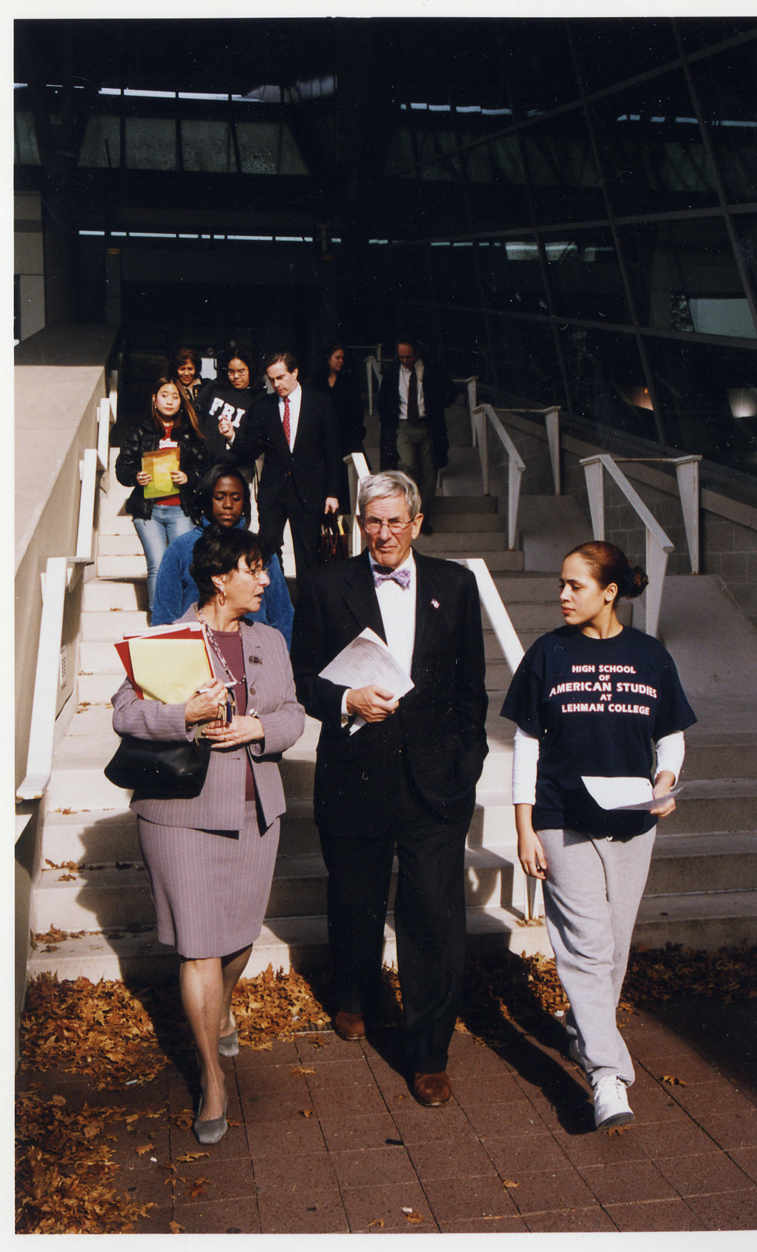 Richard Gilder at the High School of American Studies at Lehman College, a Gilder Lehrman Flagship School