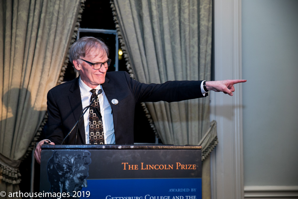 David Blight giving his acceptance speech for the Lincoln Prize 2019