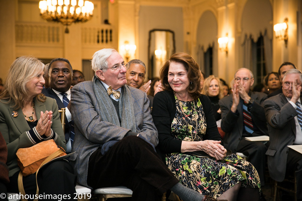 Gilder Lehrman Institute founder and co-chair Richard Gilder attended the event with his wife, Lois Chiles (right). Louise Mirrer (left), director of the New-York Historical Society, joined them.