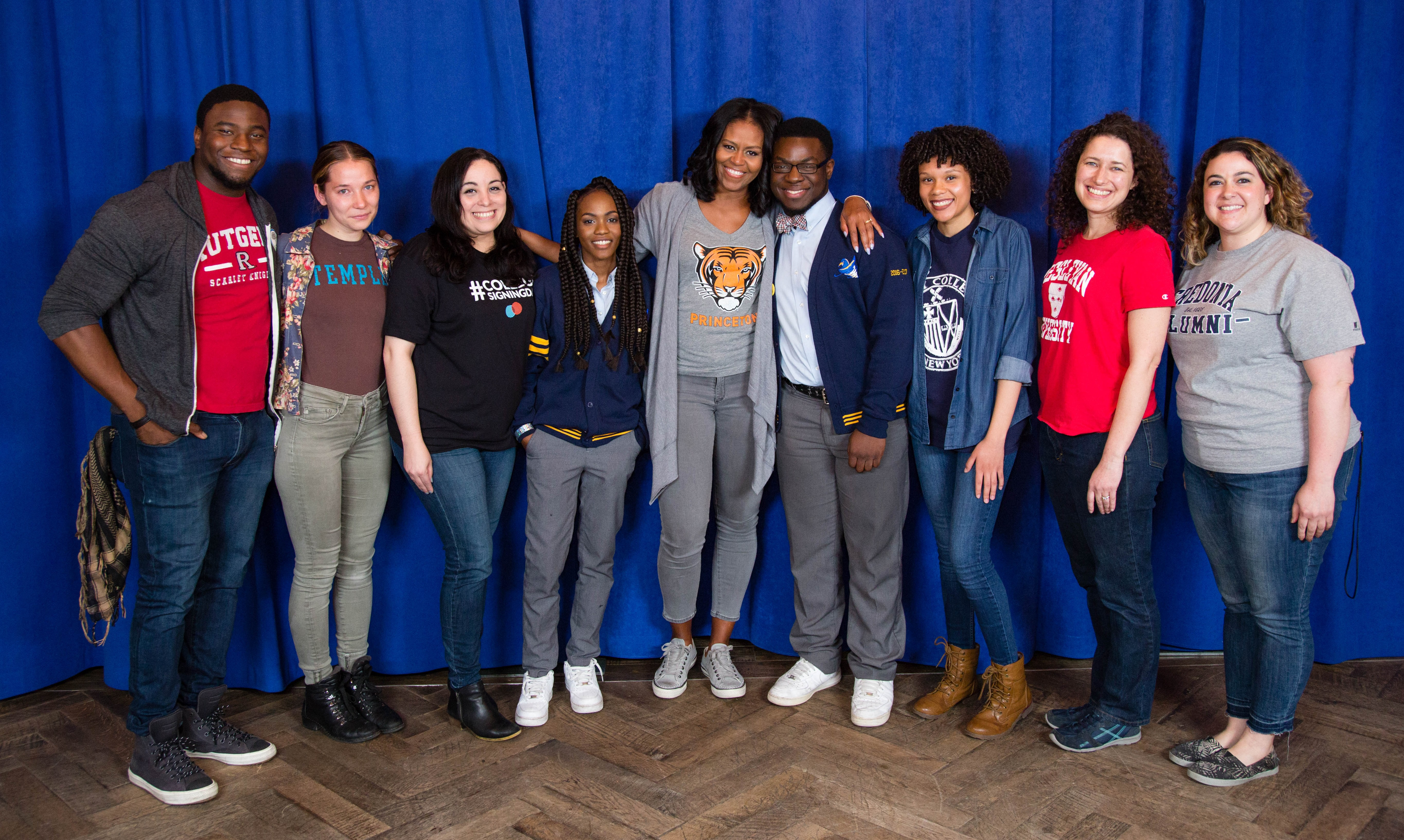 First Lady Michelle Obama with EduHam organizers and participants