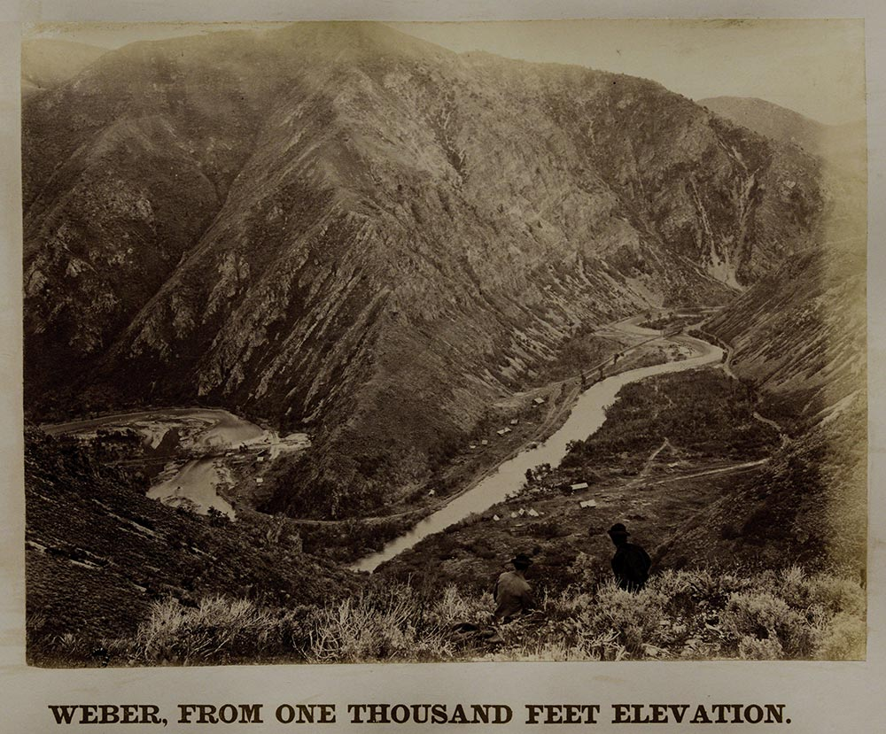 "Weber Valley, east of Salt Lake City, by Andrew J. Russell, ""Views of the American West,"" ca. 1868. (The Gilder Lehrman Institute, GLC04349)"