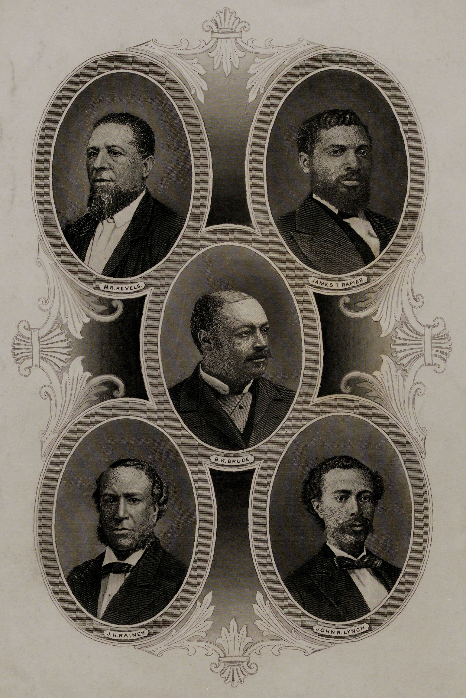 African American members of Reconstruction Congresses, Wellstood and Co., New York, ca. 1880s. (The Gilder Lehrman Institute, GLC09400.447)