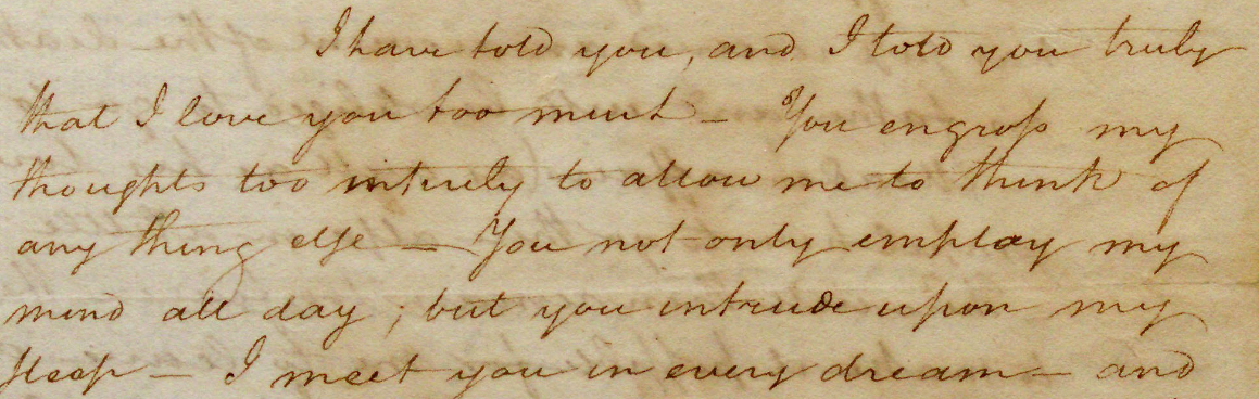 Alexander Hamilton to Elizabeth Schuyler, October 5, 1780  (Gilder Lehrman Institute, GLC00773)