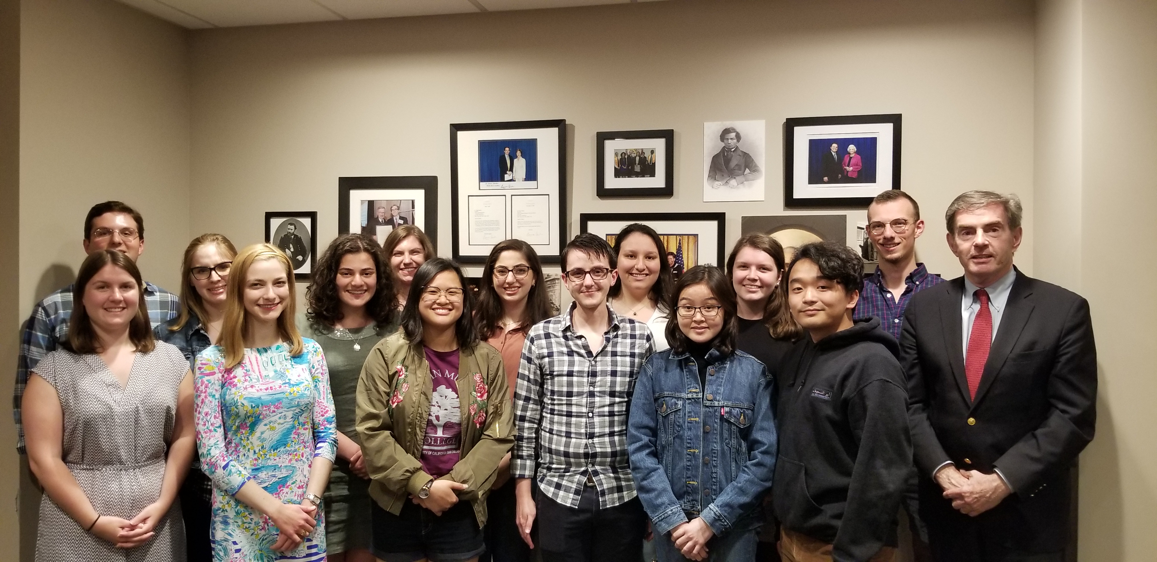 The Gilder Lehrman History Scholars of 2019 with Jim Basker.