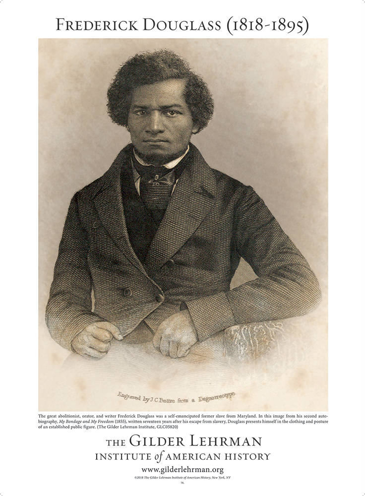 Image from Frederick Douglass's second auto-biography, 1855 (The Gilder Lehrman Institute, GLC05820), available at the Gilder Lehrman Institute History Shop.