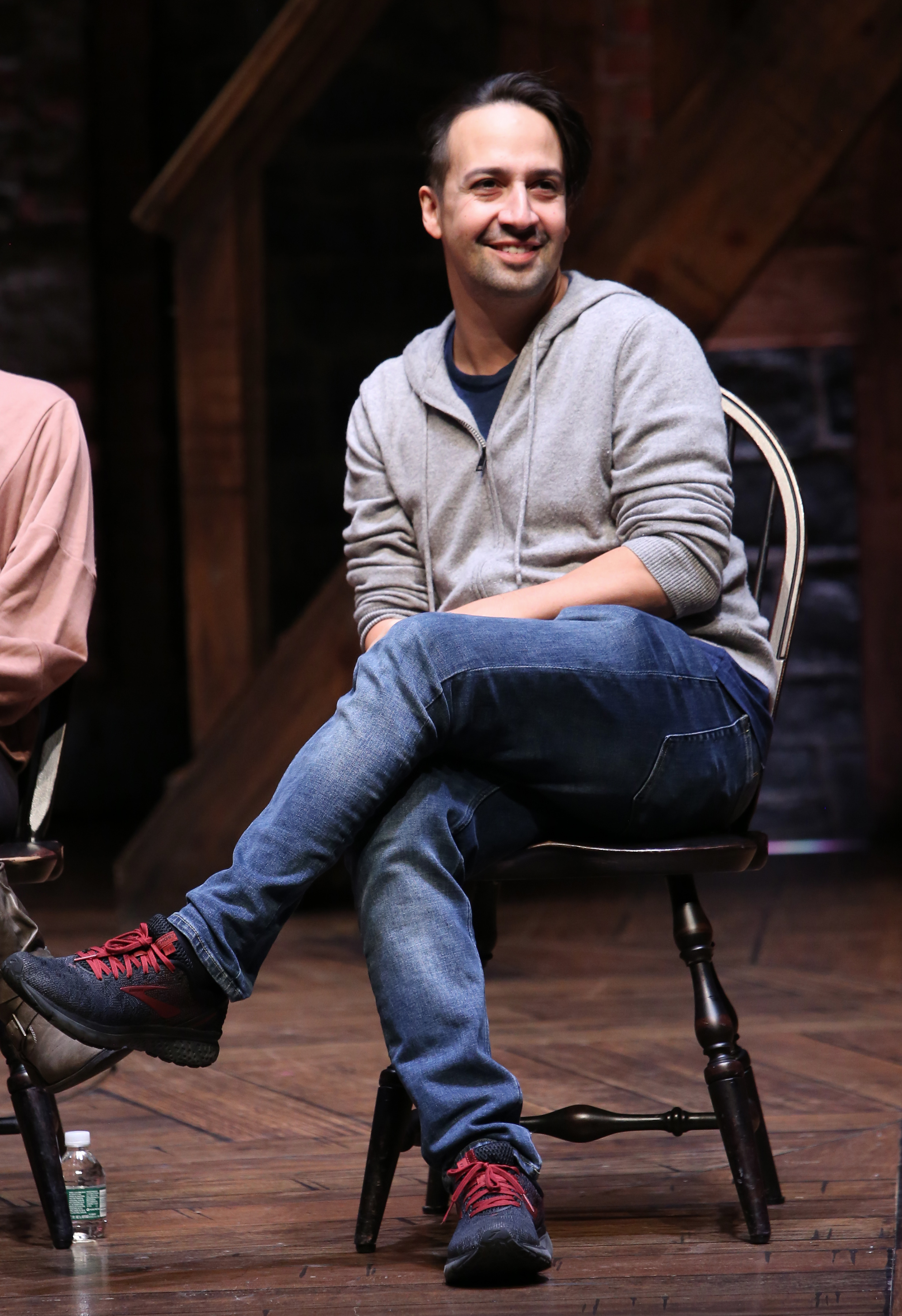 Lin-Manuel Miranda surprised a New York City Hamilton Education Program audience for their Q&A in October of 2018.