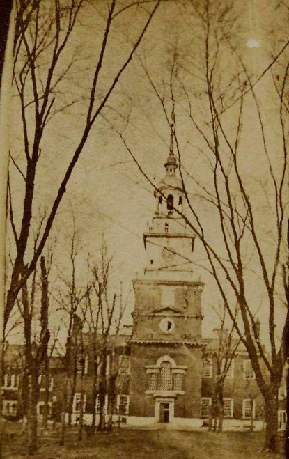 Carte de visite view of Independence Hall, Philadelphia, ca. 1861-1865 (Gilder Lehrman Institute, GLC00241.04)