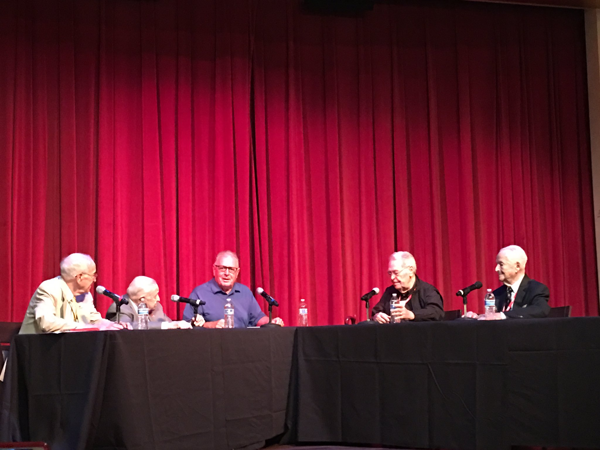 Dr. Donald Miller and a panel of World War II veterans at the National World War II Museum