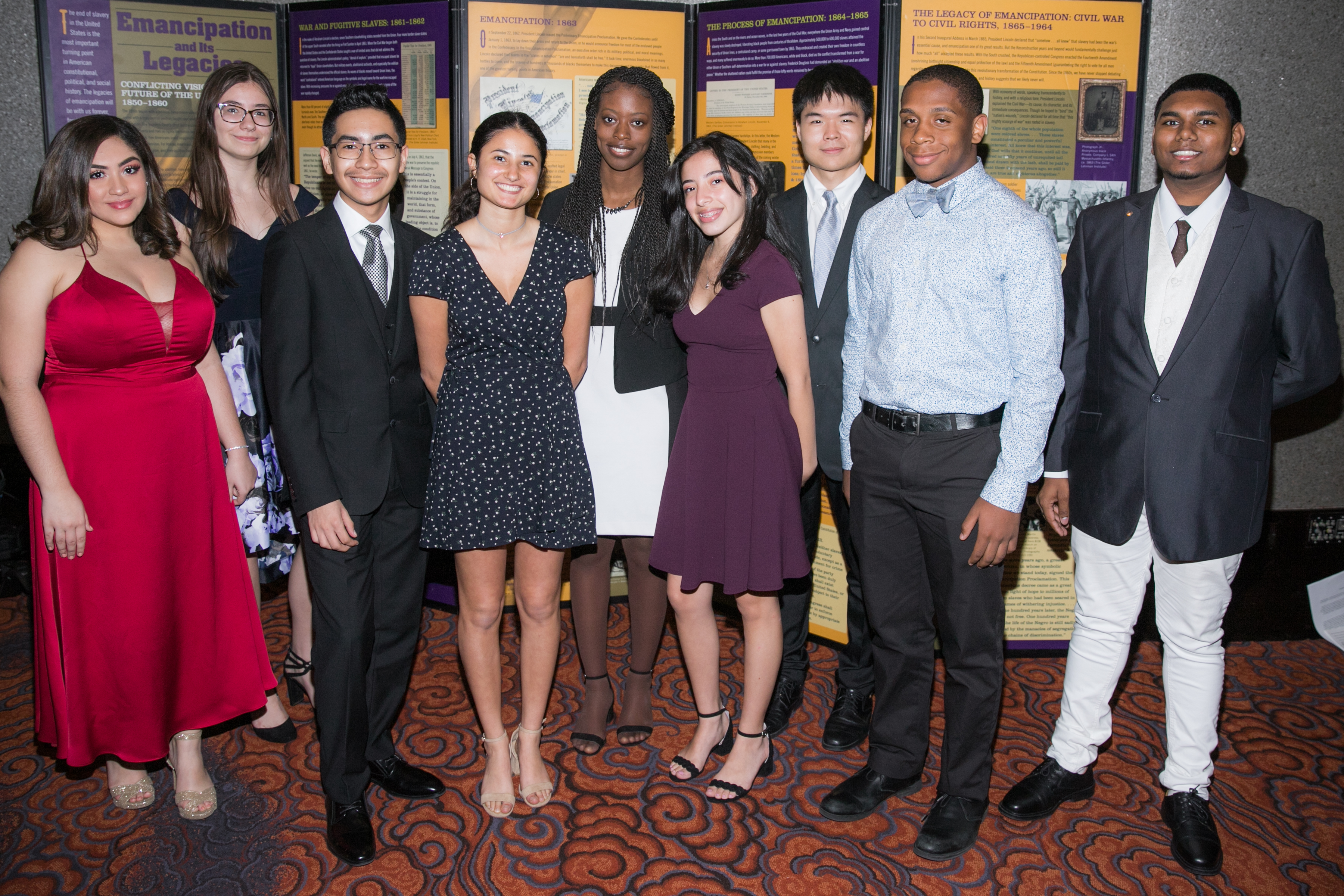 Student presenters and performers at the 2019 Gilder Lehrman Institute Gala