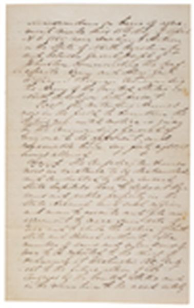 Draft Of The Surrender Agreement Between Union General William