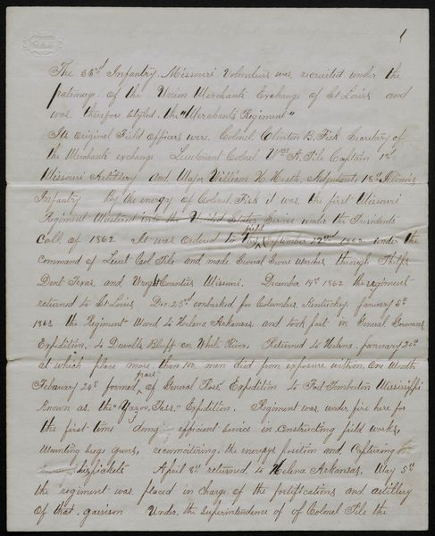 Report, possibly by Lieutenant Colonel William Heath, regarding the