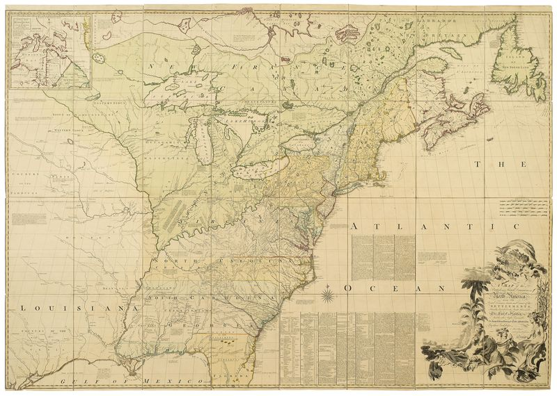 Map Of British French Dominions In No America Map Used In Treaty