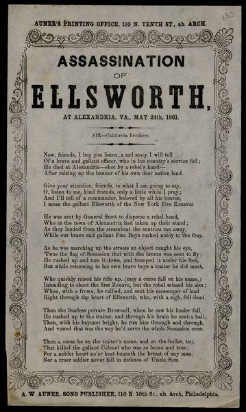 Assassination of Ellsworth, at Alexandria, Va , May 24th, 1861