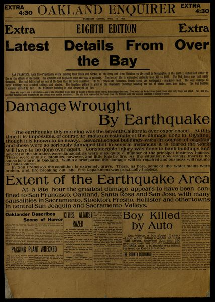 Oakland enquirer  Extra 4:30  [8th edition (April 18, 1906