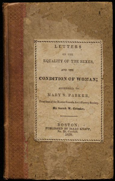 Sarah grimke letters on the equality of the sexes photo 812