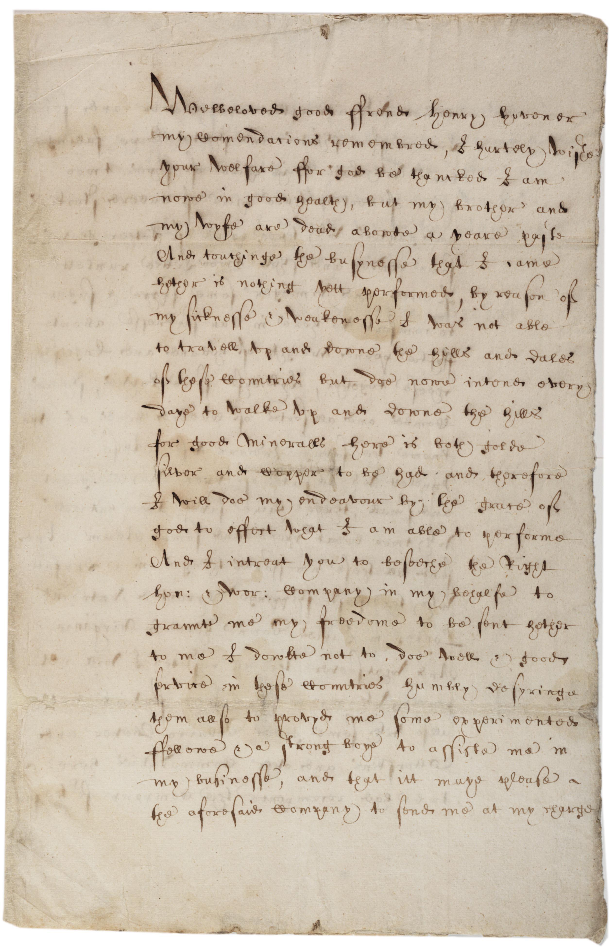 Sebastian Brandt to Henry Hovener, January 13, 1622. (Gilder Lehrman Collection)
