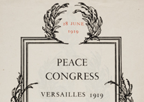 Peace Congress, Versailles 1919, Session of 28 June 1919: Agenda (GLC00752)