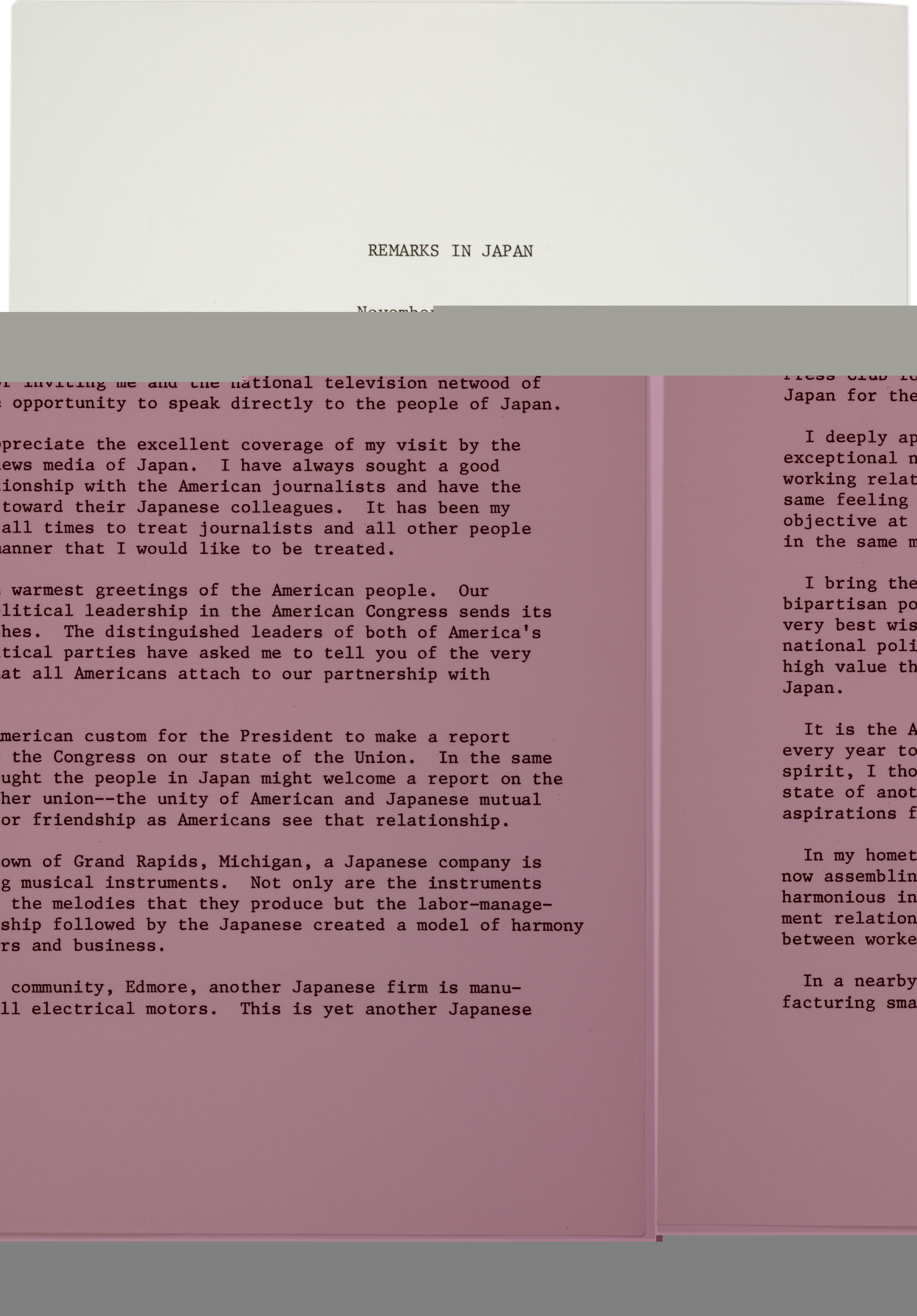 president ford s remarks in the gilder lehrman president ford s remarks in 1974