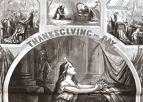 """Thanksgiving-Day,"" by Thomas Nast, Harper's Weekly, December 5, 1863. (Gilder L"