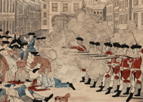 "Paul Revere, ""The Bloody Massacre in King-Street, March 5, 1770."" Boston, 1770."