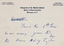 John F. Kennedy, [Portion of an address], ca. August 12, 1952 (GLC02313)