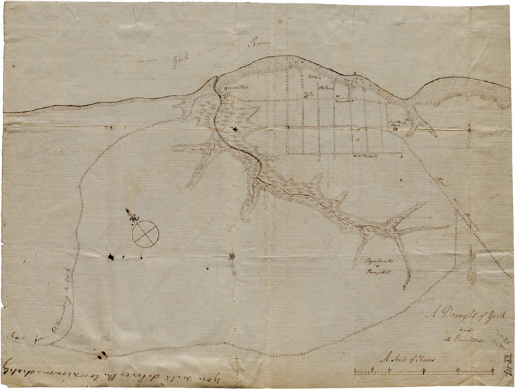 Map of Yorktown, Virginia, October 1781 (GLC02437.10669)