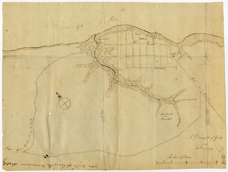 Map of Yorktown, Virginia, October 1781 (Gilder Lehrman Collection)