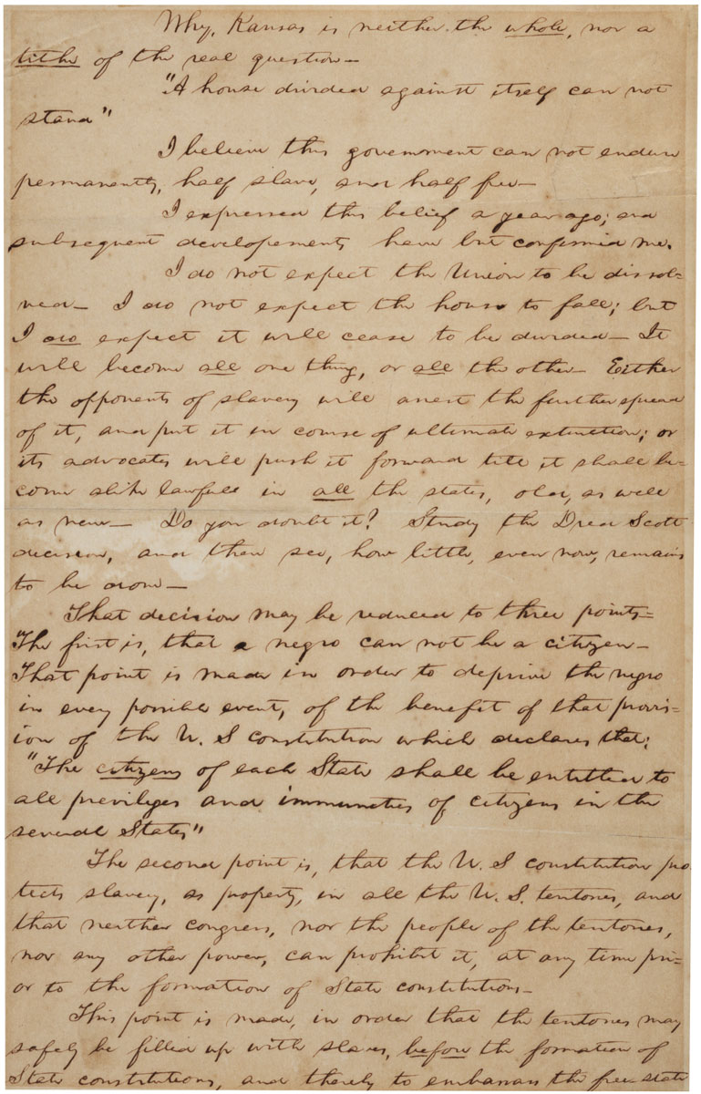 lincolns house divided speech analysis Second inaugural address (march 4, 1865) by the time abraham lincoln was inaugurated for his second term as president on saturday house divided project.