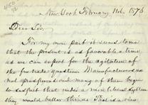 William C. Bryant to Hamilton A. Hill, February 11, 1876. (GLC02595)