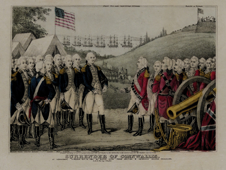surrender of the british general cornwallis to the americans