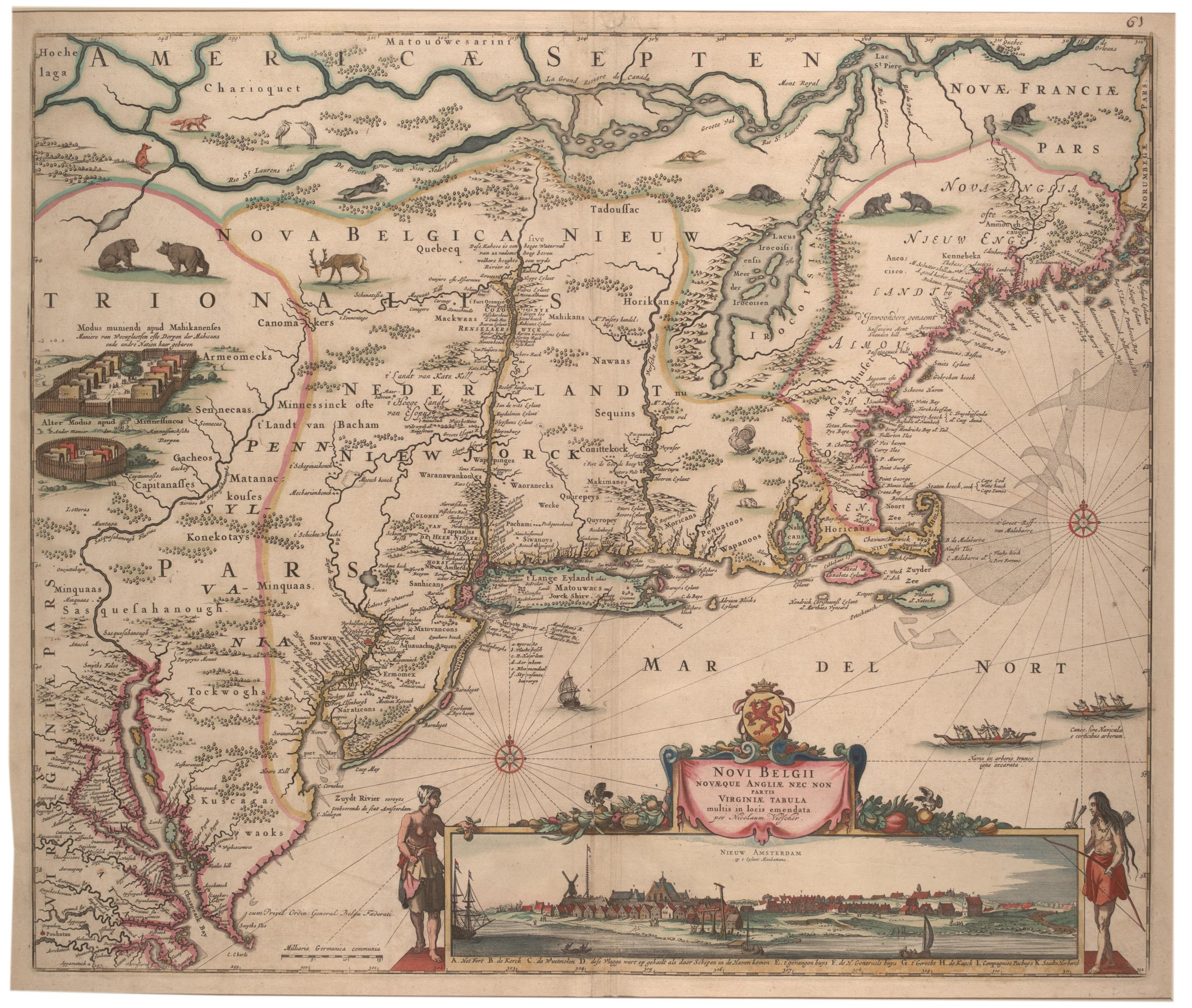 Novi Belgi Novaeque Angliae [New Netherland and New England], 1682 (Gilder  Lehrman Collection) ...