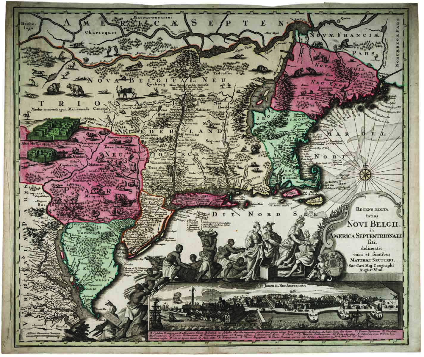 Recens Edita totius Novi Belgii [New Netherland - New York], 1730. (Gilder Lehrm