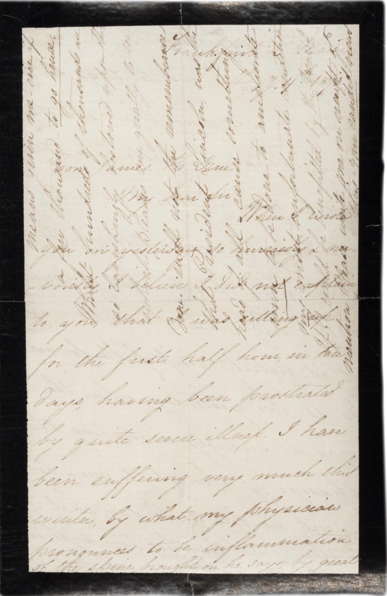 Mary Todd Lincoln to James Orne, February 4, 1870. (Gilder Lehrman Collection)