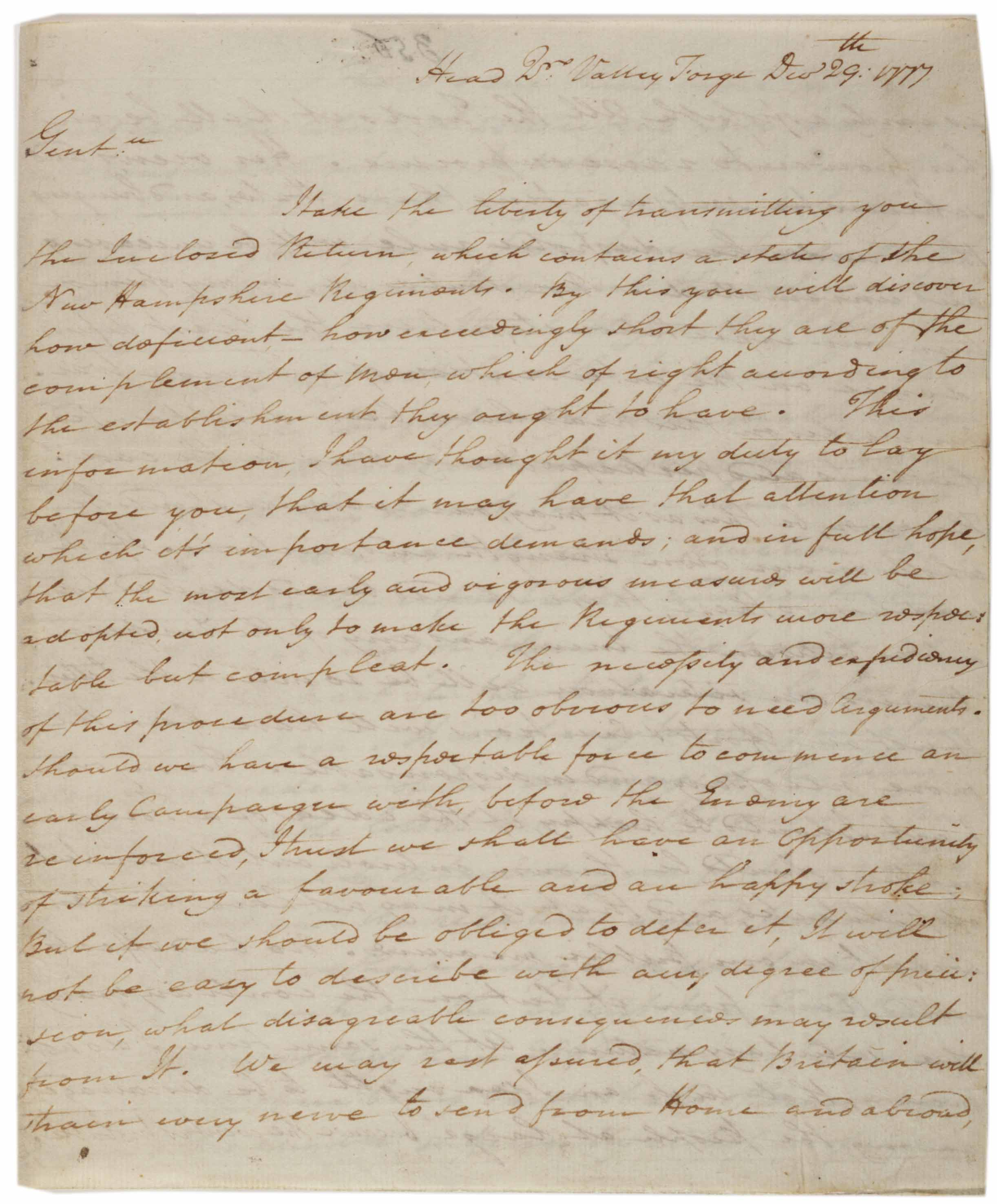 george washington writes from valley forge on this day george washington to the legislature of new hampshire 29 1777 gilder