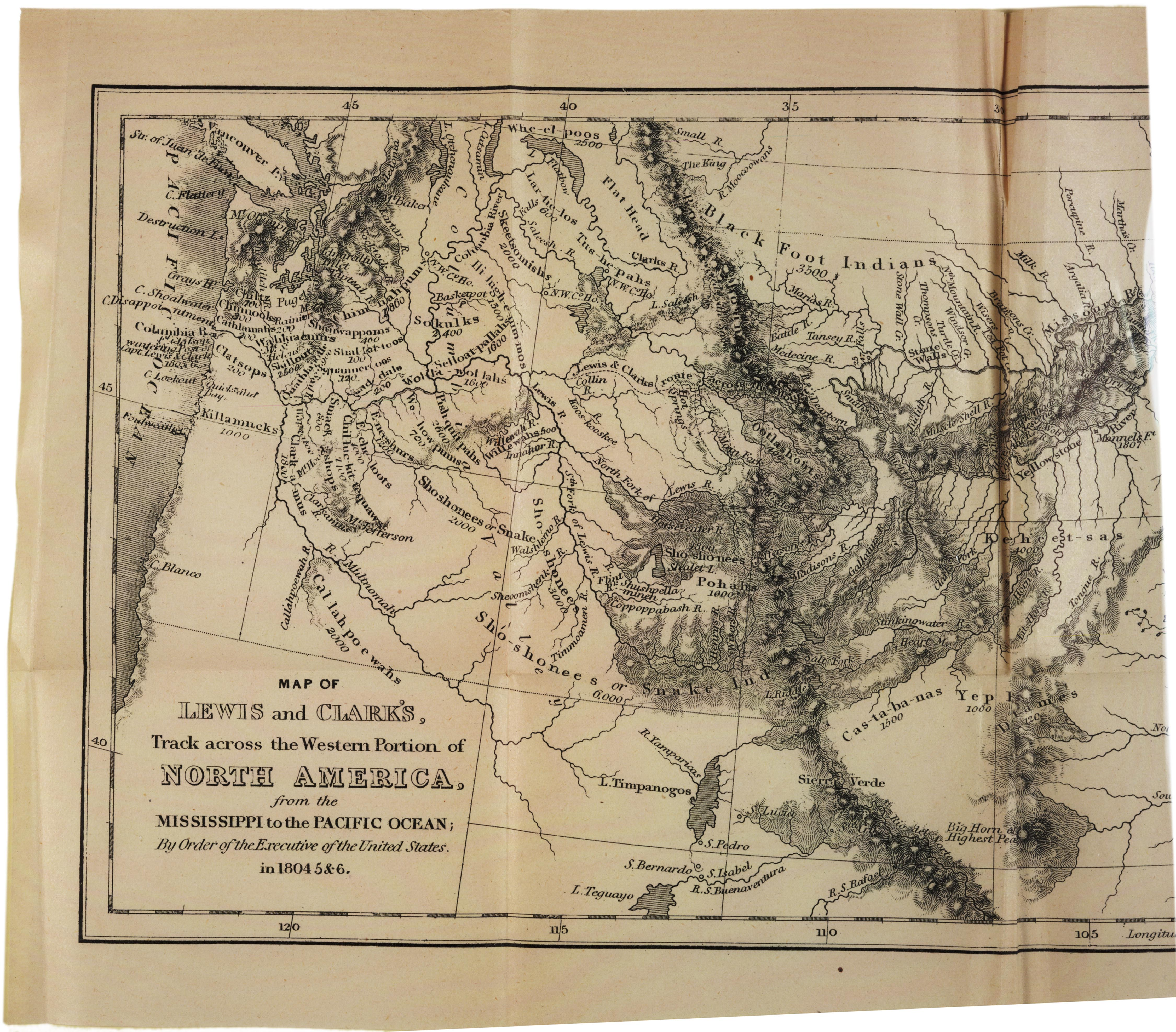 A Map of the Louisiana Territory, 1814. (Gilder Lehrman Collection)