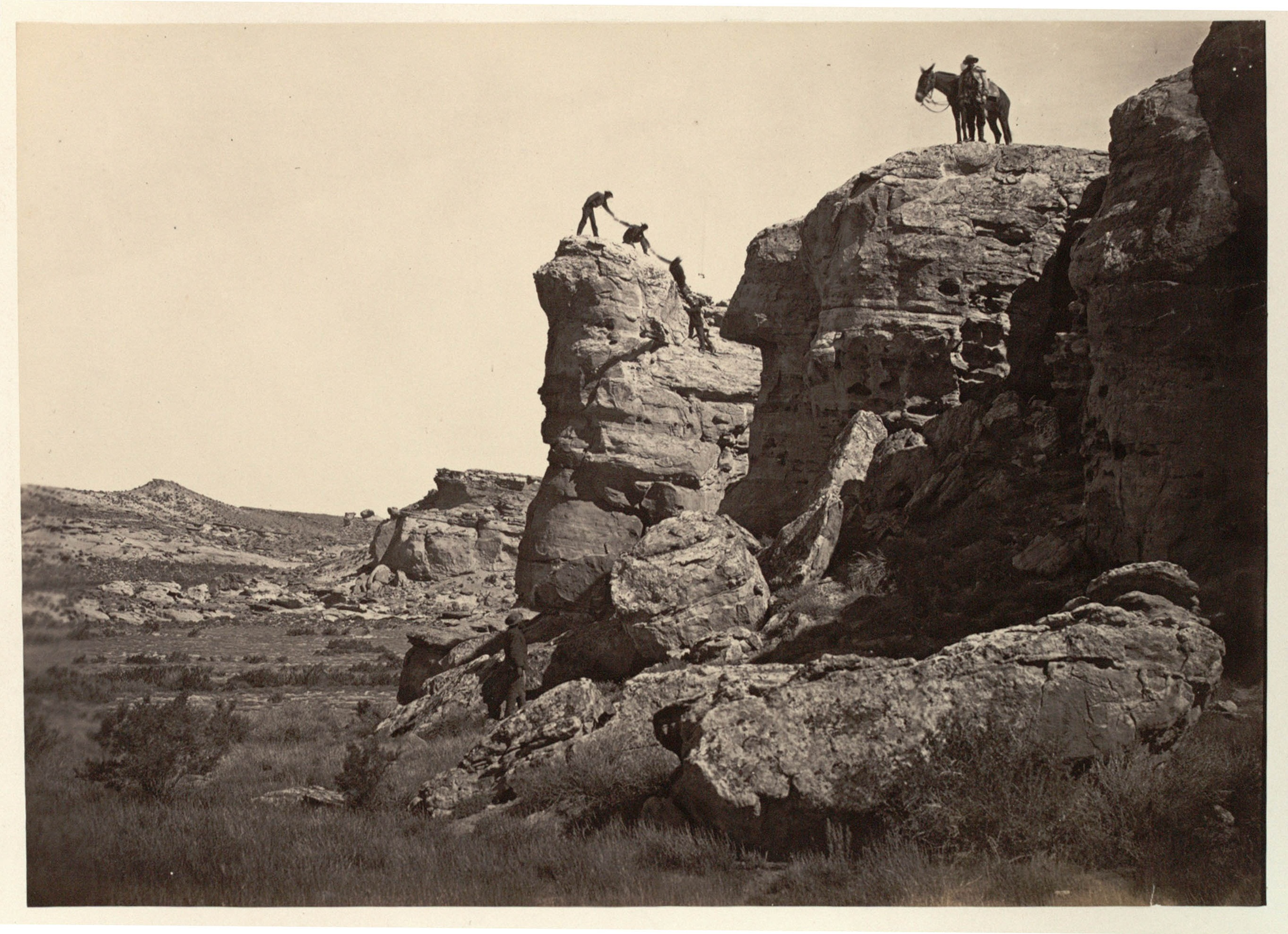 """High Bluff, Black Buttes,"" from The Great West Illustrated by Andrew J. Russell"