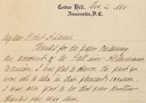 Frederick Douglass to Robert Adams, December 4, 1888. (GLC04997)