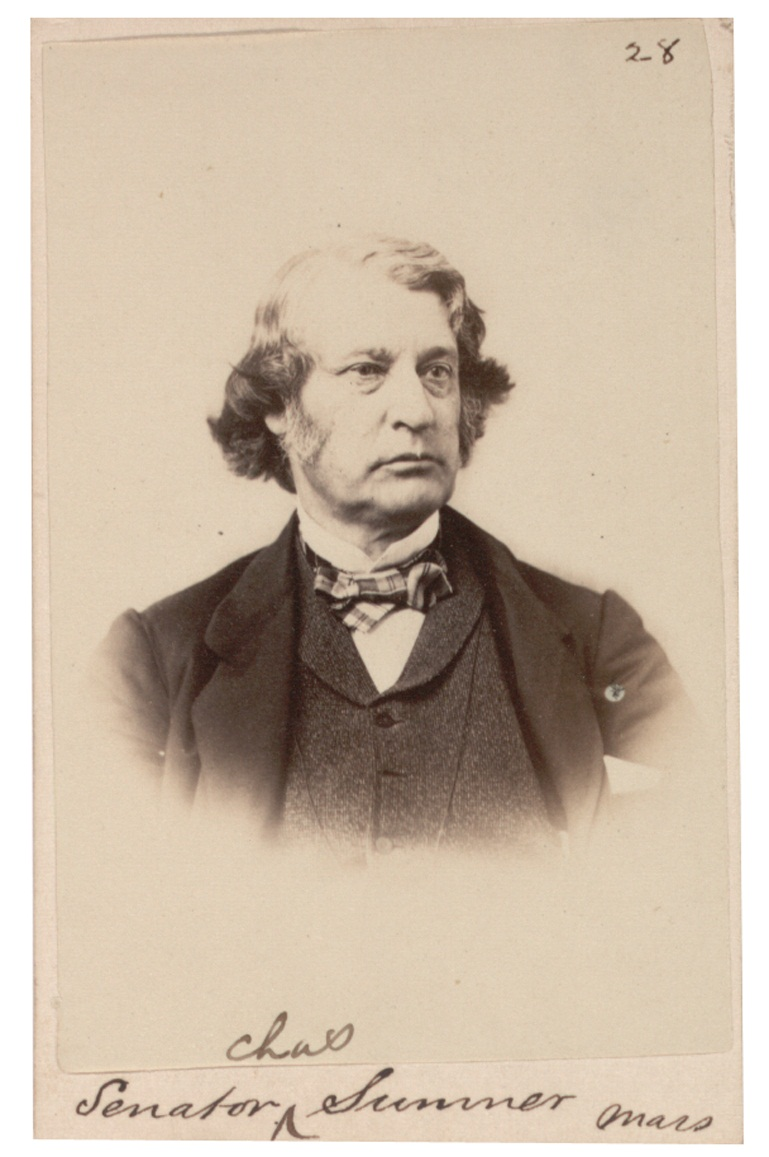 Photograph of Charles Sumner, c. 1861–1865 (Gilder Lehrman Collection)