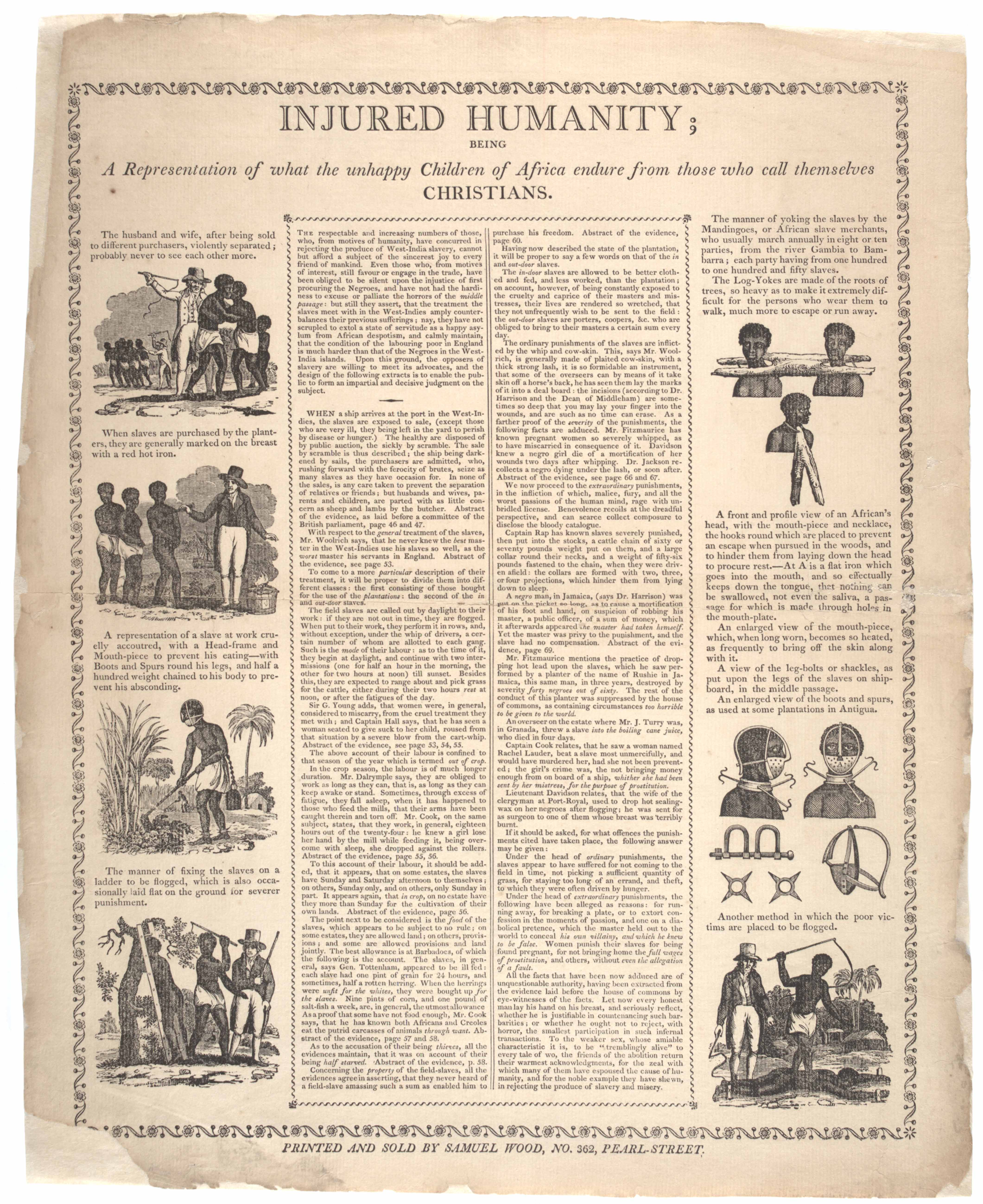 an essay on the horrors of slavery Essay compares and contrasts the institution of slavery in africa and the  (also  known as gustavus vassa) suffered the horrors of slavery as an african slave.